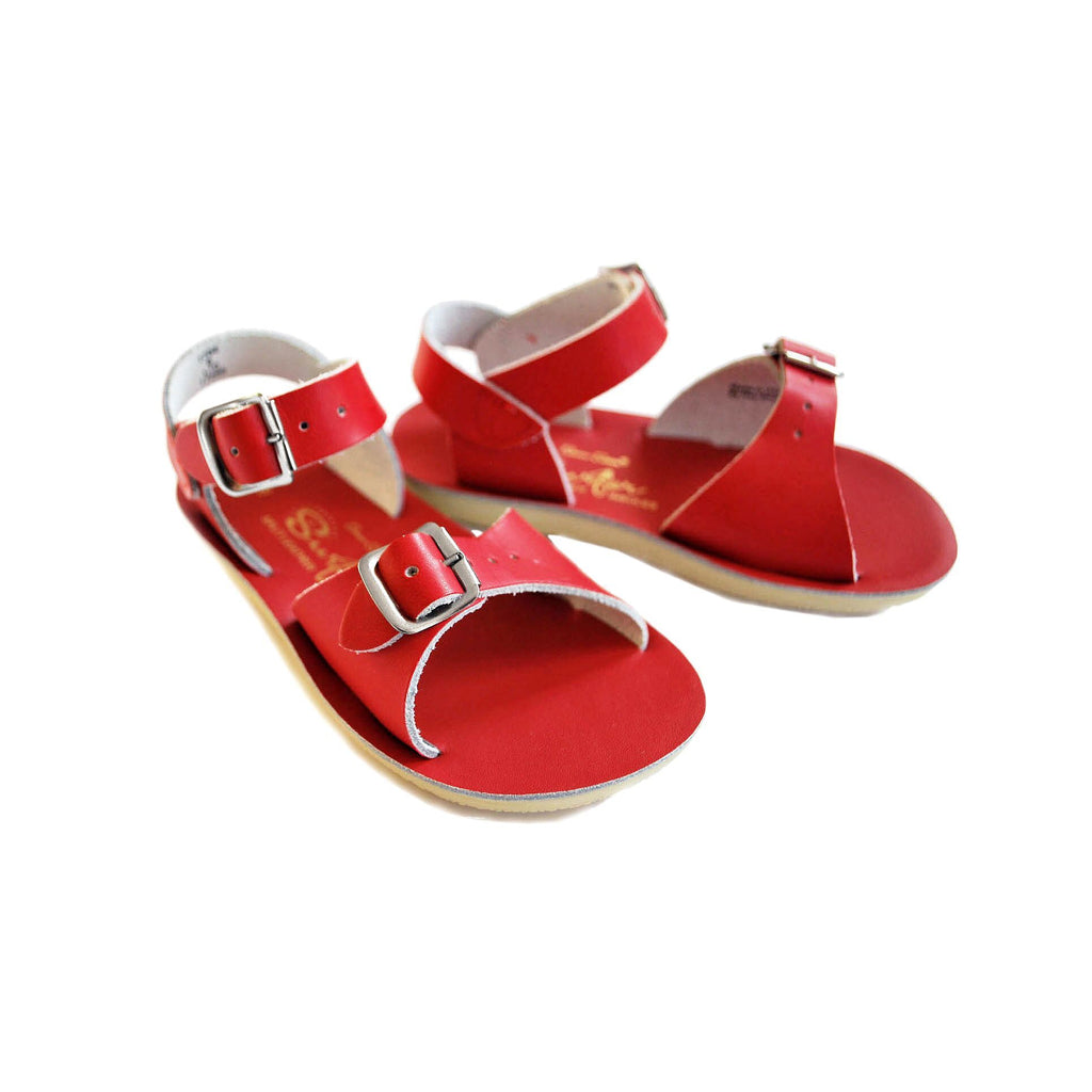 Salt-Water Red Surfer Sandals
