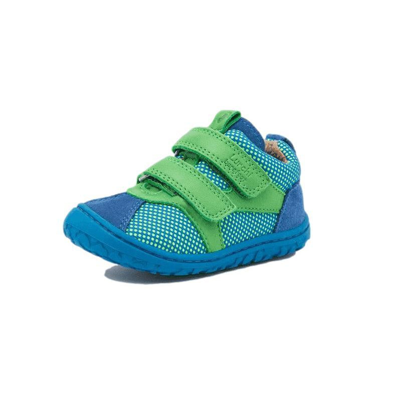 Lurchi Nevio Blue & Green Barefoot Trainers. Cooshoo Kids Shoes.