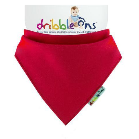 Red Dribble Ons Bib by Sock Ons. Cooshoo fitted children's shoes.