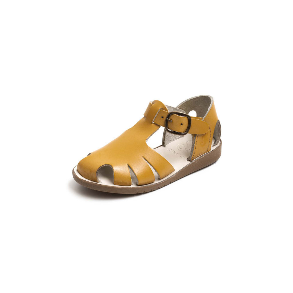 Samphire Celso Mustard Waterproof Closed-Toe Sandals. From Cooshoo kids shoes.