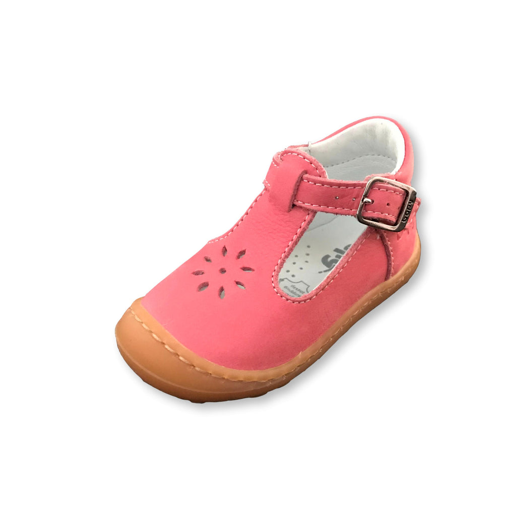 Bopy Japan Metallic Pink T-Bar Shoes. Cooshoo kids shoes.
