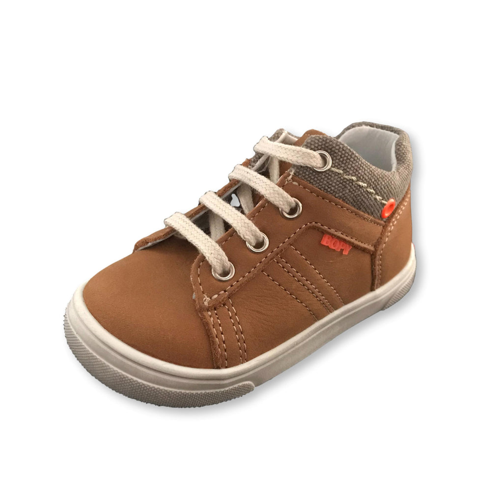 Bopy Rasaro Tan Lace-up Shoes. Cooshoo kids shoes.