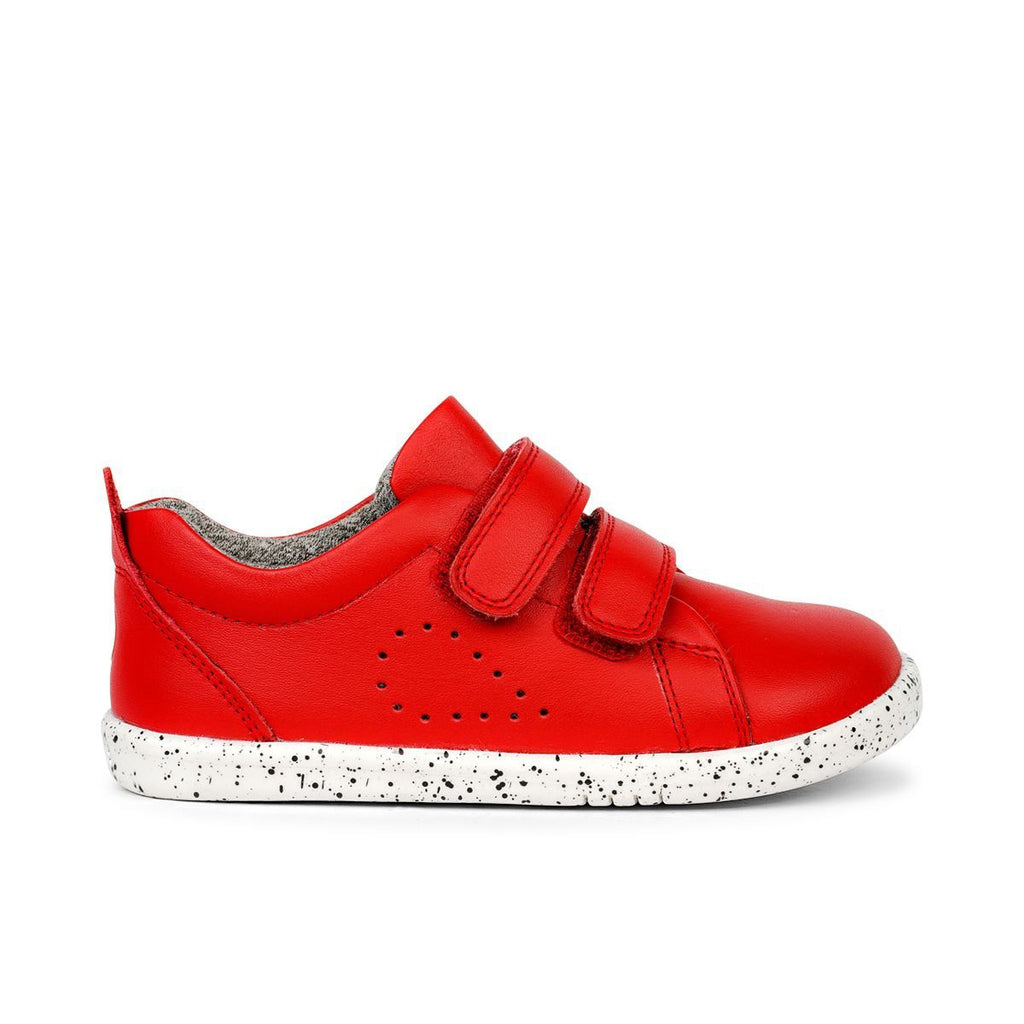 Bobux  I-Walk Grass Court Red Trainer. Cooshoo children's shoes.