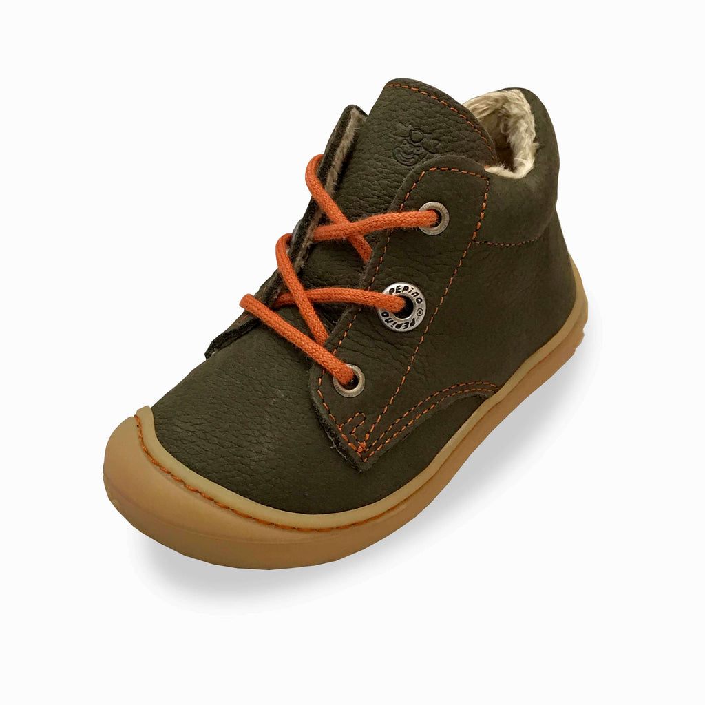Ricosta Corany Army Brown Boots. Cooshoo kids shoes.