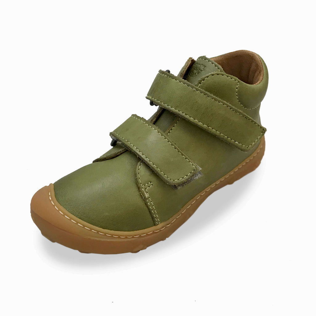 Ricosta Chrisy Leaf Green Low-top Boots. Cooshoo kids shoes.