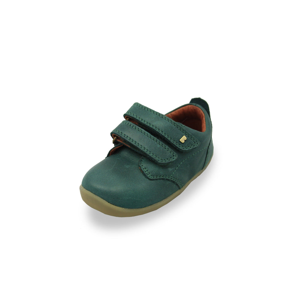 Bobux SU Forest Green Port barefoot children's shoes. From Cooshoo fitted childrens shoes.