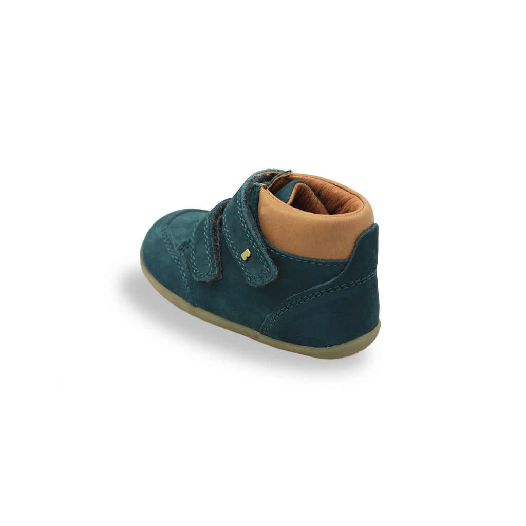 Bobux SU Airforce Blue Timber shoes. From Cooshoo fitted childrens shoes. Back image.