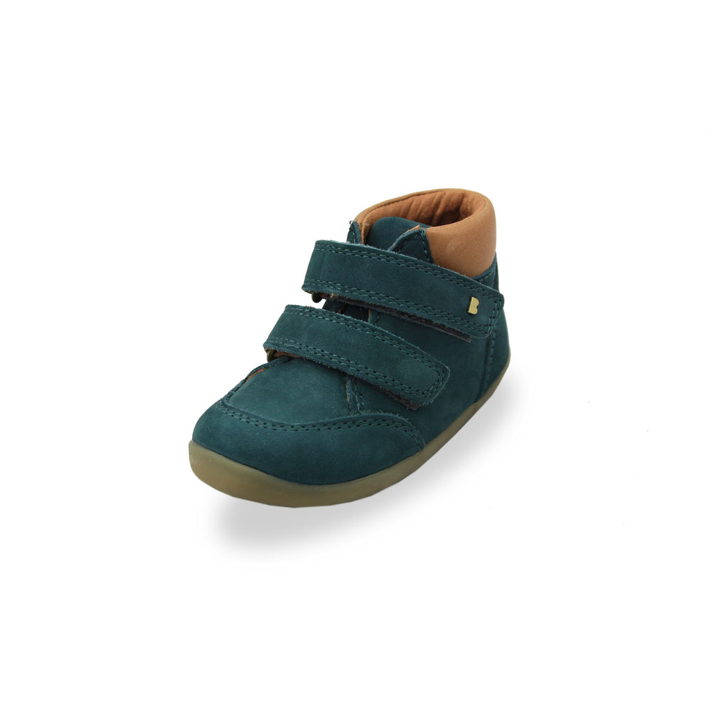 Bobux SU Airforce Blue Timber shoes. From Cooshoo fitted childrens shoes.