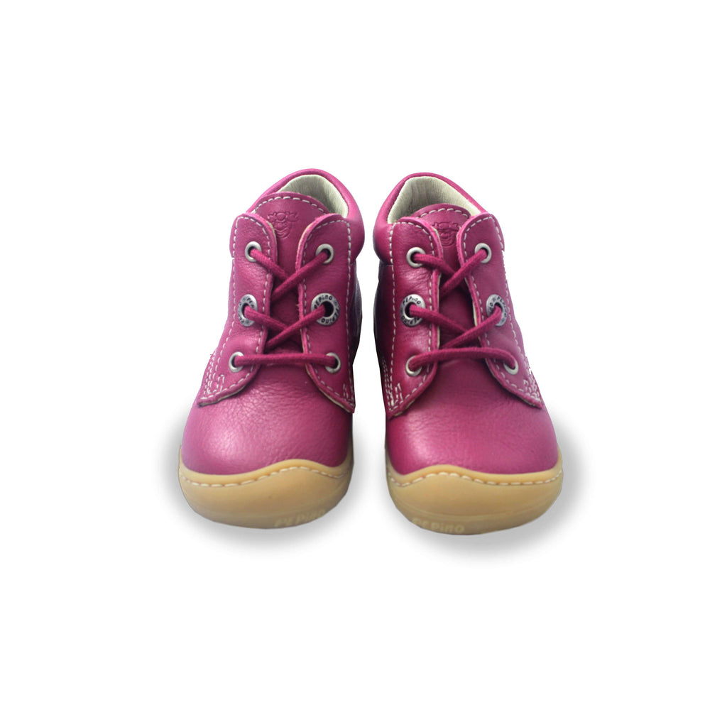 Pair of Ricosta Cory pink boots, kids shoes. From Cooshoo fitted childrens shoes.