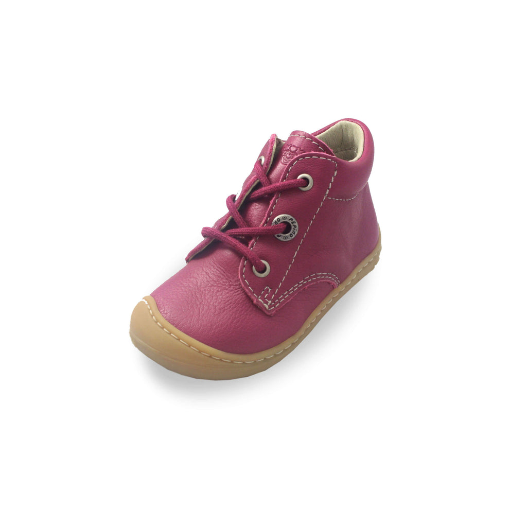 Ricosta Cory pink boots, kids shoes. From Cooshoo fitted childrens shoes.