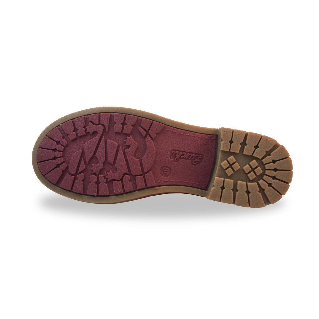 Sole of Lurchi Fiby-Tex Burgundy Waterproof Butterfly Boots. Cooshoo childrens shoes.