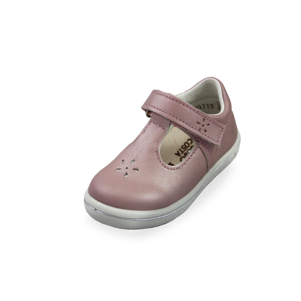 Ricosta Winona Rose Pink T-Bar Shoes. Cooshoo kids shoes.