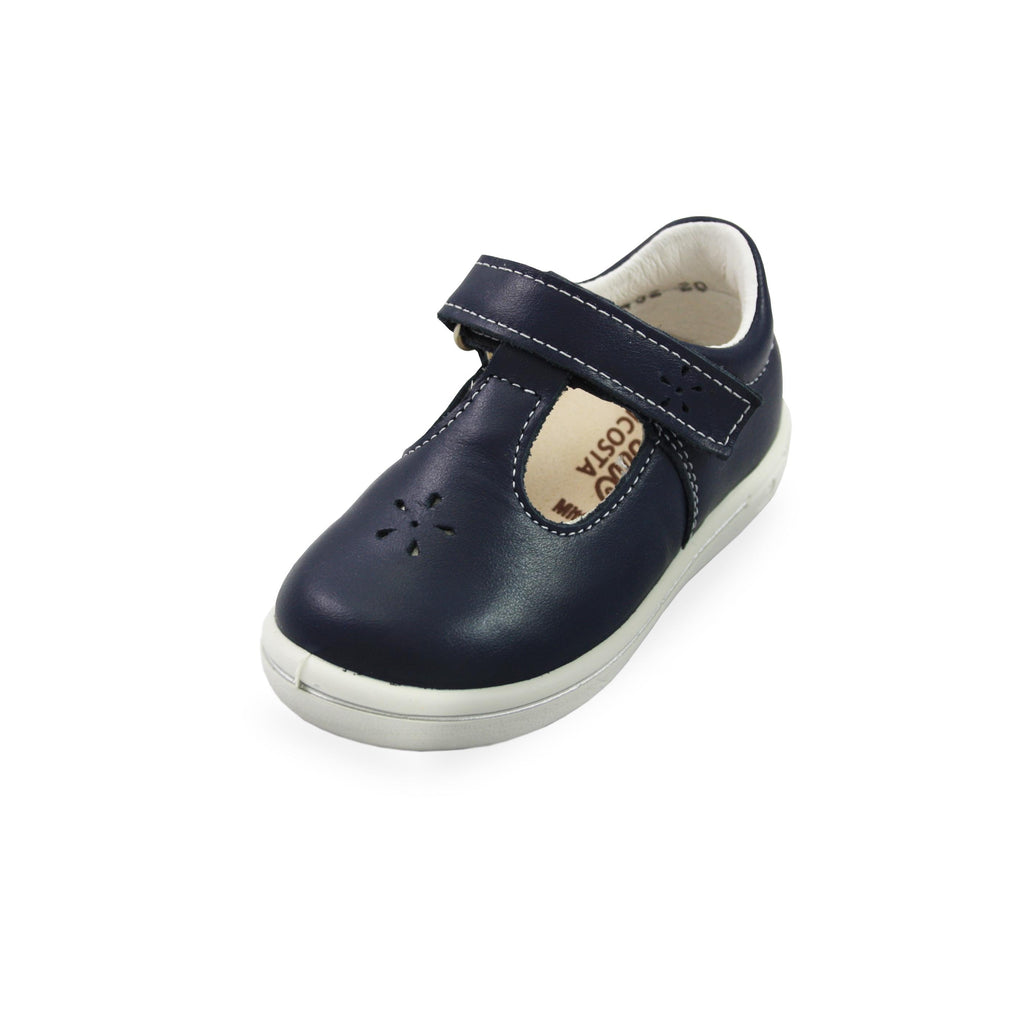 Ricosta Winona Navy Blue T-Bar Shoes. Cooshoo kids shoes.