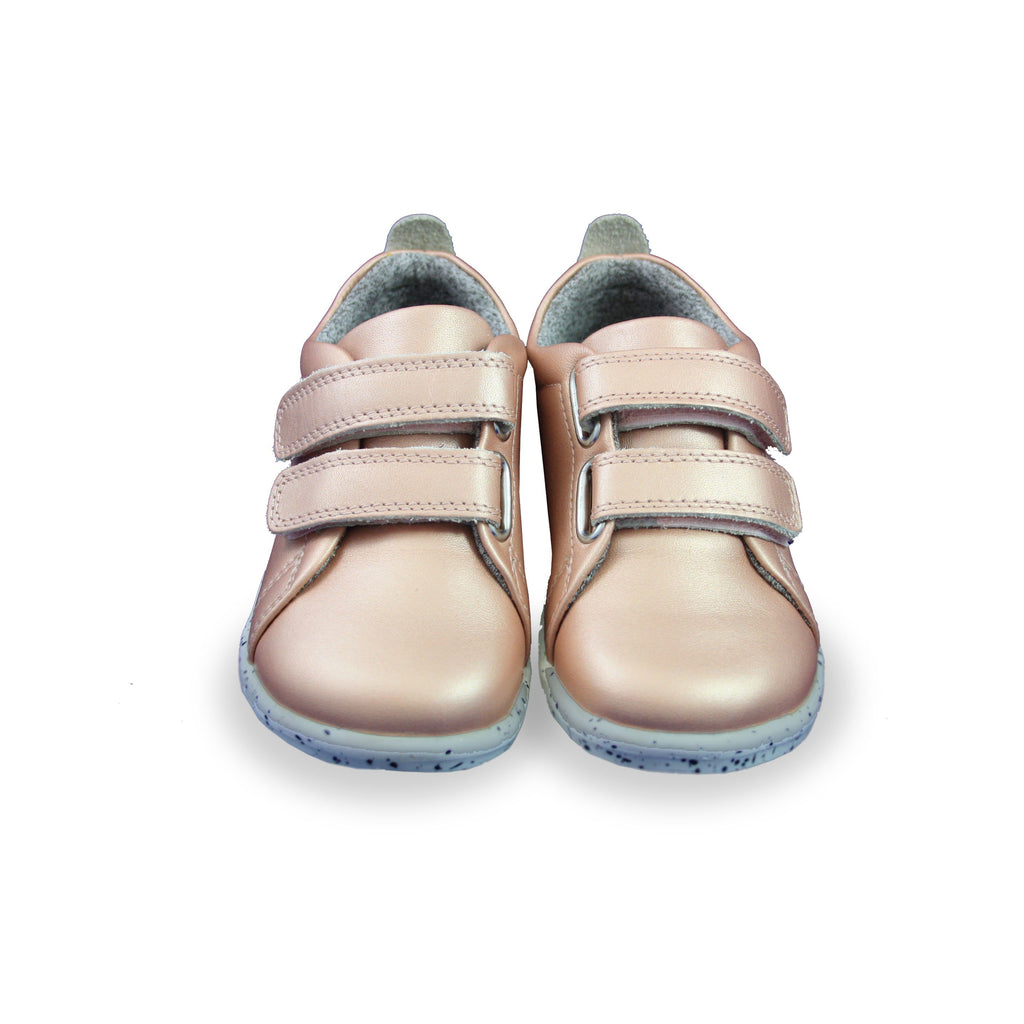 Pair of Bobux I-Walk Rose Gold Trainers. Cooshoo children's shoes.