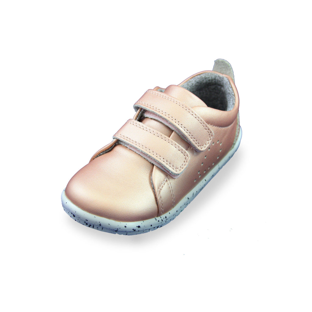 Bobux I-Walk Rose Gold Trainers. Cooshoo children's shoes.