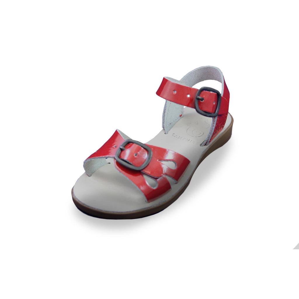Samphire Marella Red Patent Waterproof Sandals. From Cooshoo kids shoes.