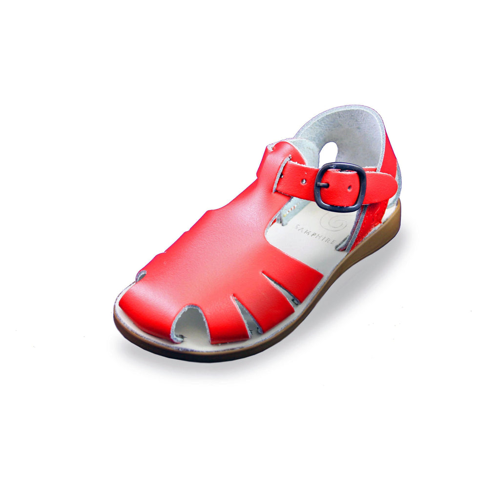 Samphire Celso Red Waterproof Closed-Toe Sandals. From Cooshoo kids shoes.