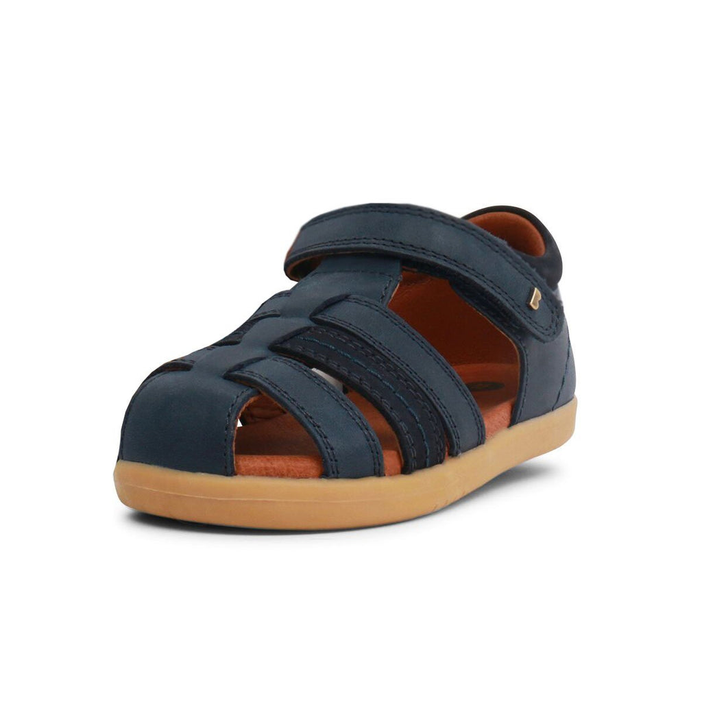 Bobux I Walk Navy Blue Roam Sandals. Cooshoo kids shoes.