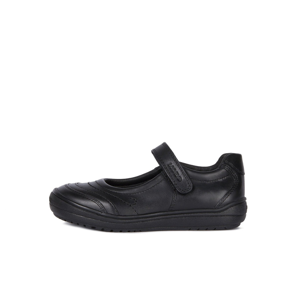 Side of GEOX Hadriel Black Mary-Jane School Shoes. From Coosho fitted School Shoes.