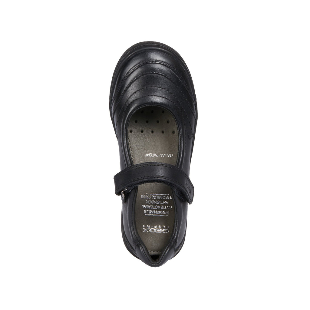 Top of GEOX Hadriel Black Mary-Jane School Shoes. From Coosho fitted School Shoes.