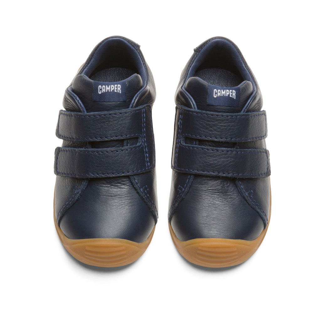 Pair of Camper Sella Hypnos Dadda Navy Blue Low-tops. Cooshoo children's shoes.
