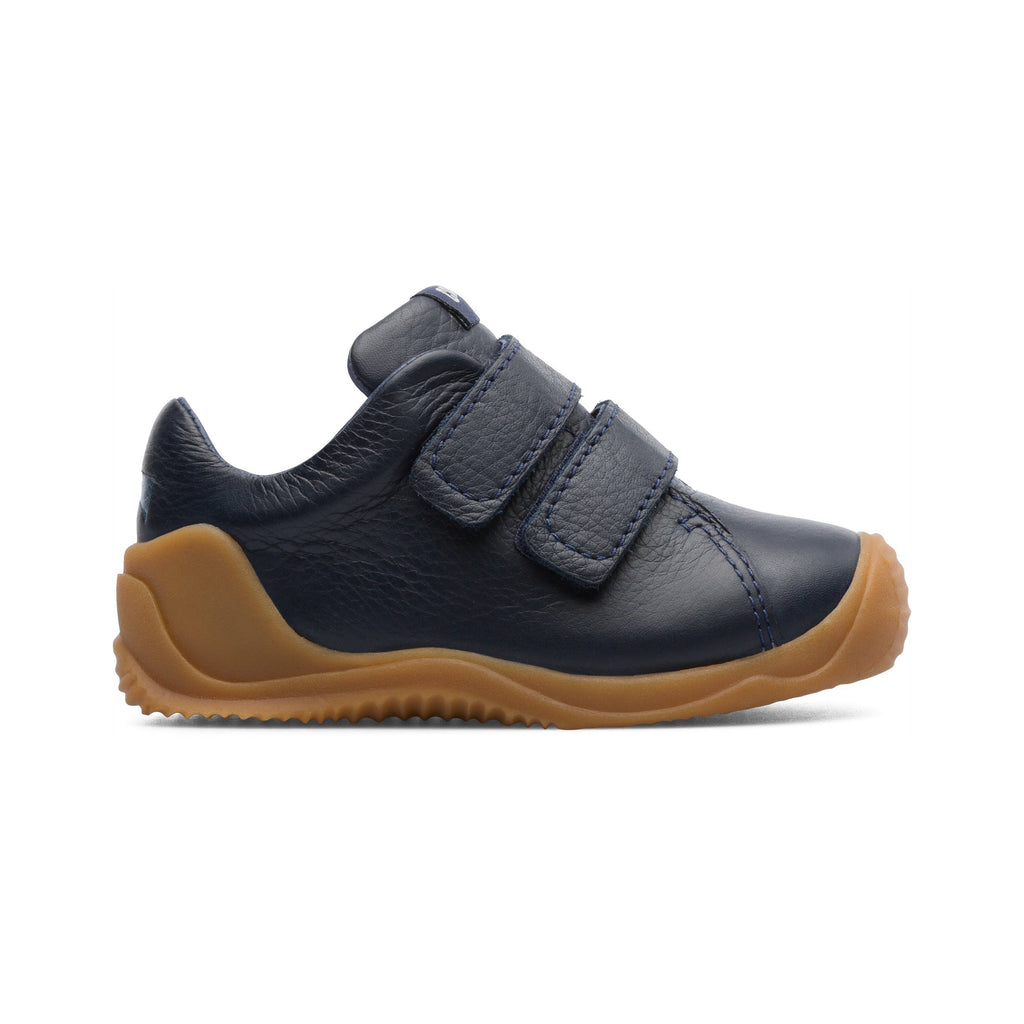 Profile of Camper Sella Hypnos Dadda Navy Blue Low-tops. Cooshoo children's shoes.