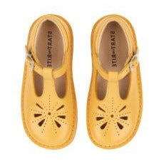 Start-Rite Yellow Leather Traditional T-Bar Shoes