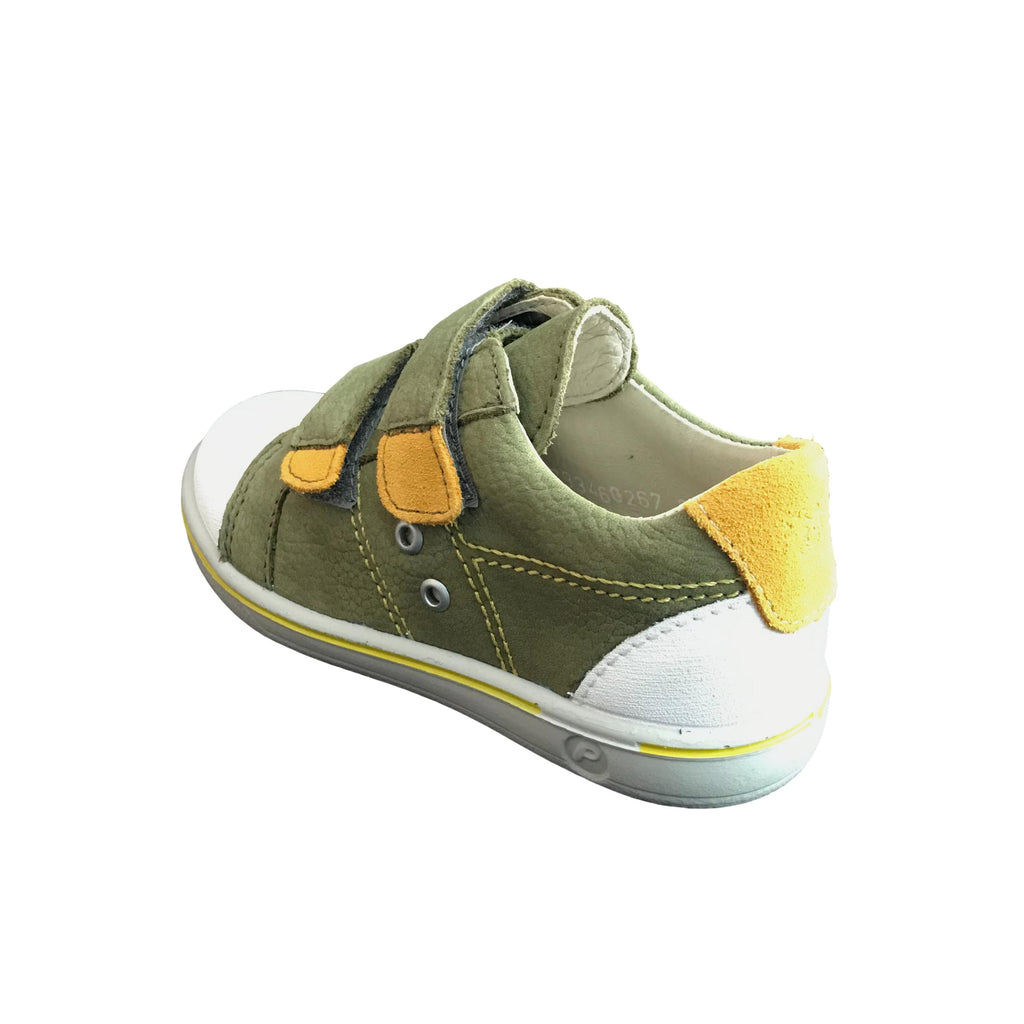 Heel of Ricosta Nippy Military Green Trainer Shoe. Cooshoo kids shoes.