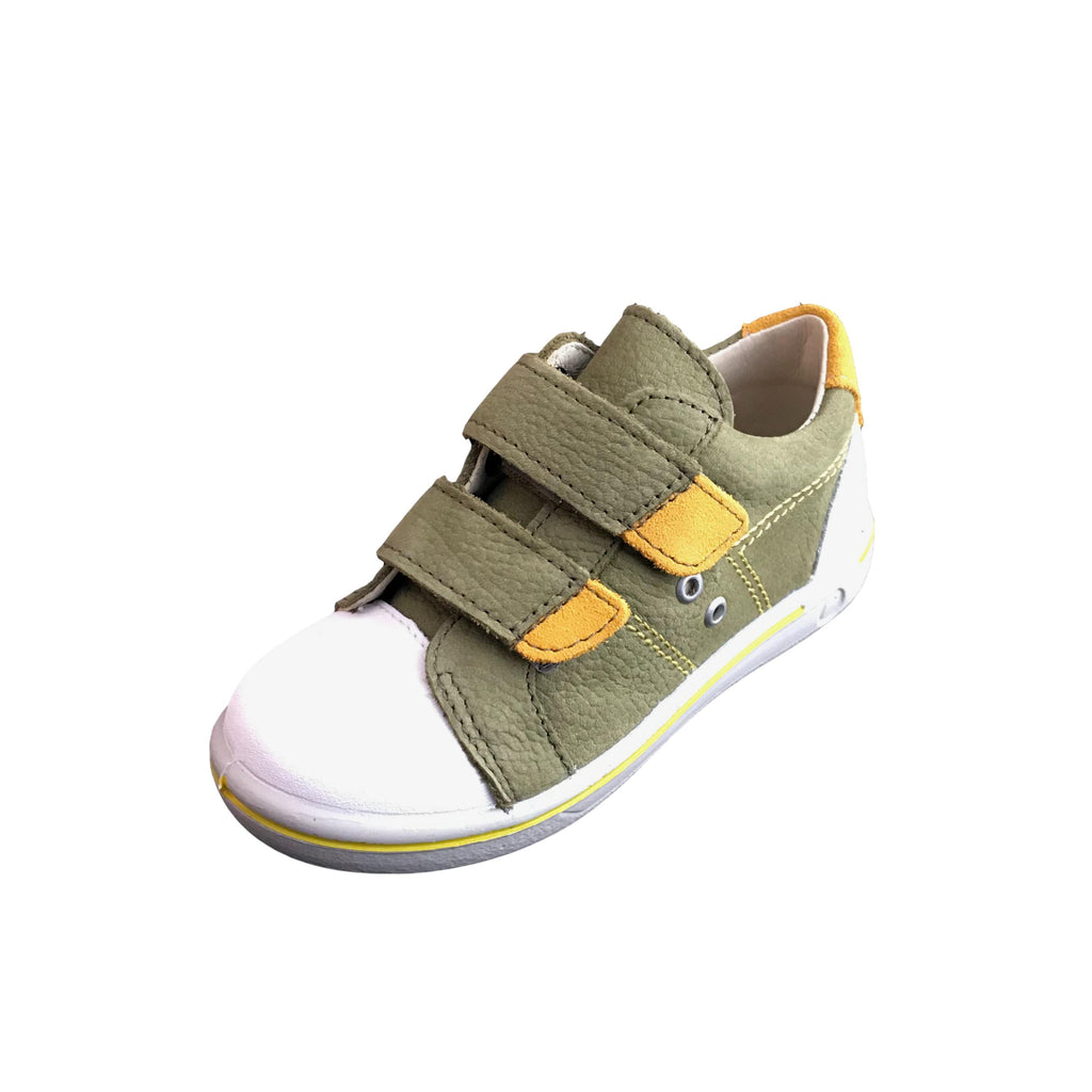 Ricosta Nippy Military Green Trainer Shoe. Cooshoo kids shoes.