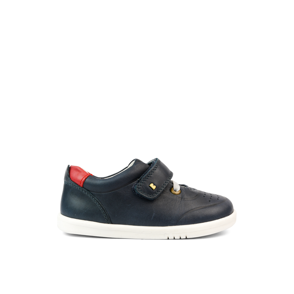 Bobux I Walk Ryder Navy Trainer Shoes. Cooshoo kids shoes.