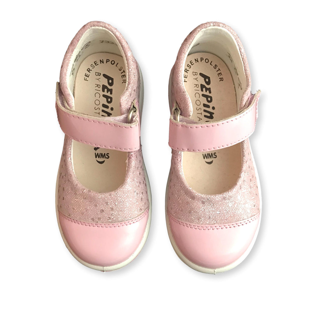 Pair of Ricosta Nippy Pink Corinne Shoes. Cooshoo kids shoes