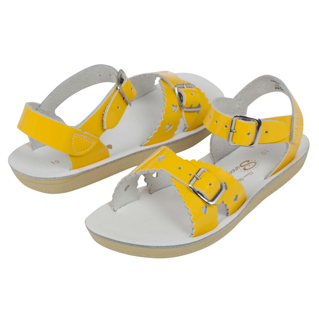 Salt Water Sweetheart Shiny Yellow Water Sandals