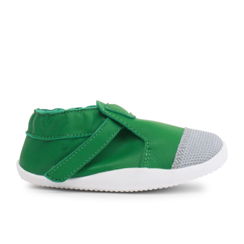 Bobux Step-up Explorer Emerald Green Pre-walker Shoes. From Cooshoo fitted childrens shoes.