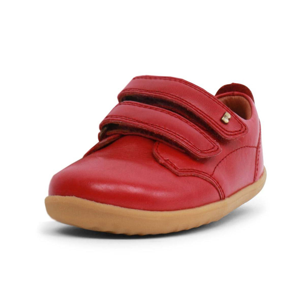 Bobux Step Up Port Rio Red Barefoot Kids Shoe. From Cooshoo fitted childrens shoes.