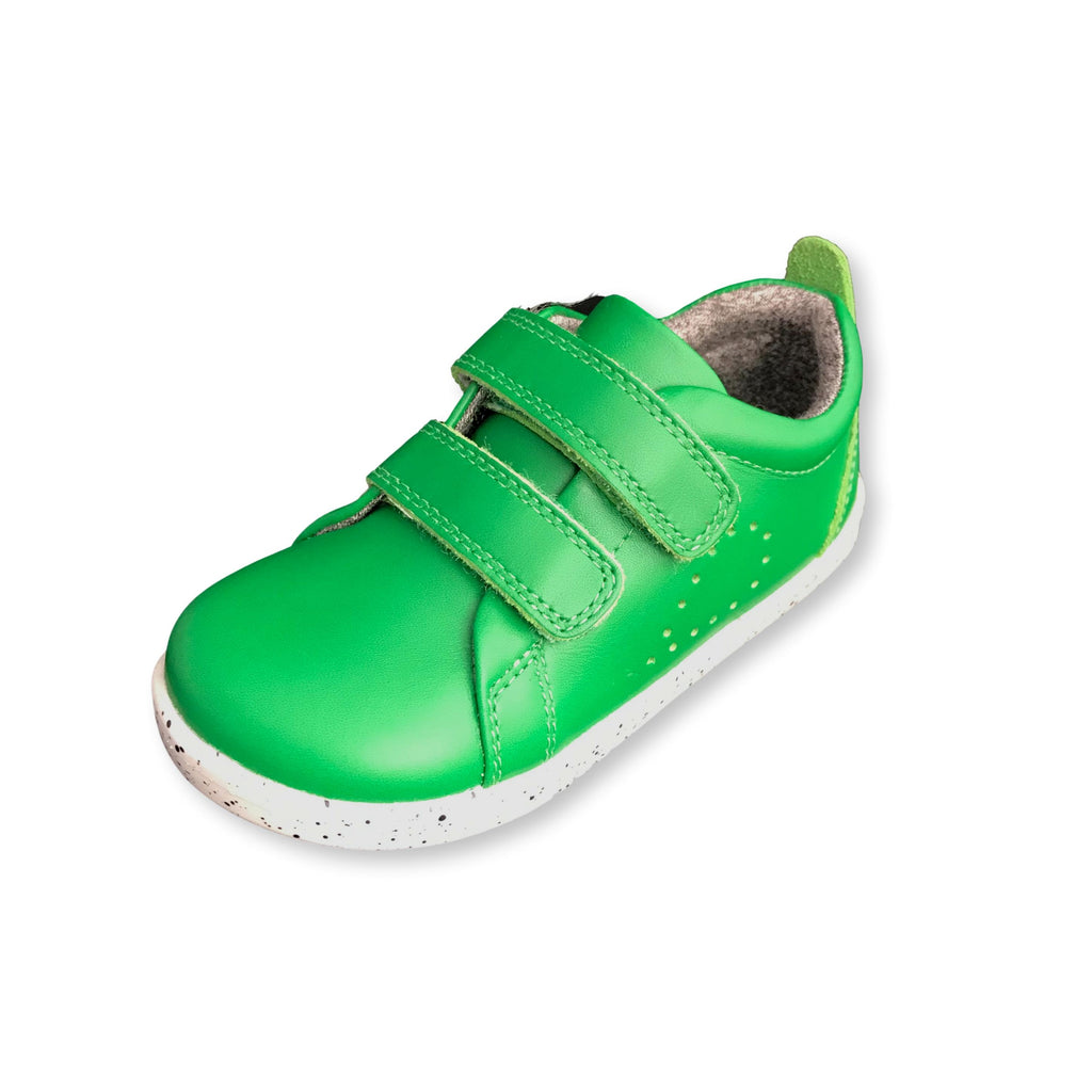 Bobux I Walk Grass Court Emerald Green Trainer Shoe. Cooshoo kids shoes.