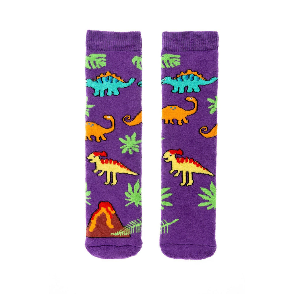 Squelch Dinosaur Multi-Coloured Dino Welly Socks. Cooshoo kids shoes.