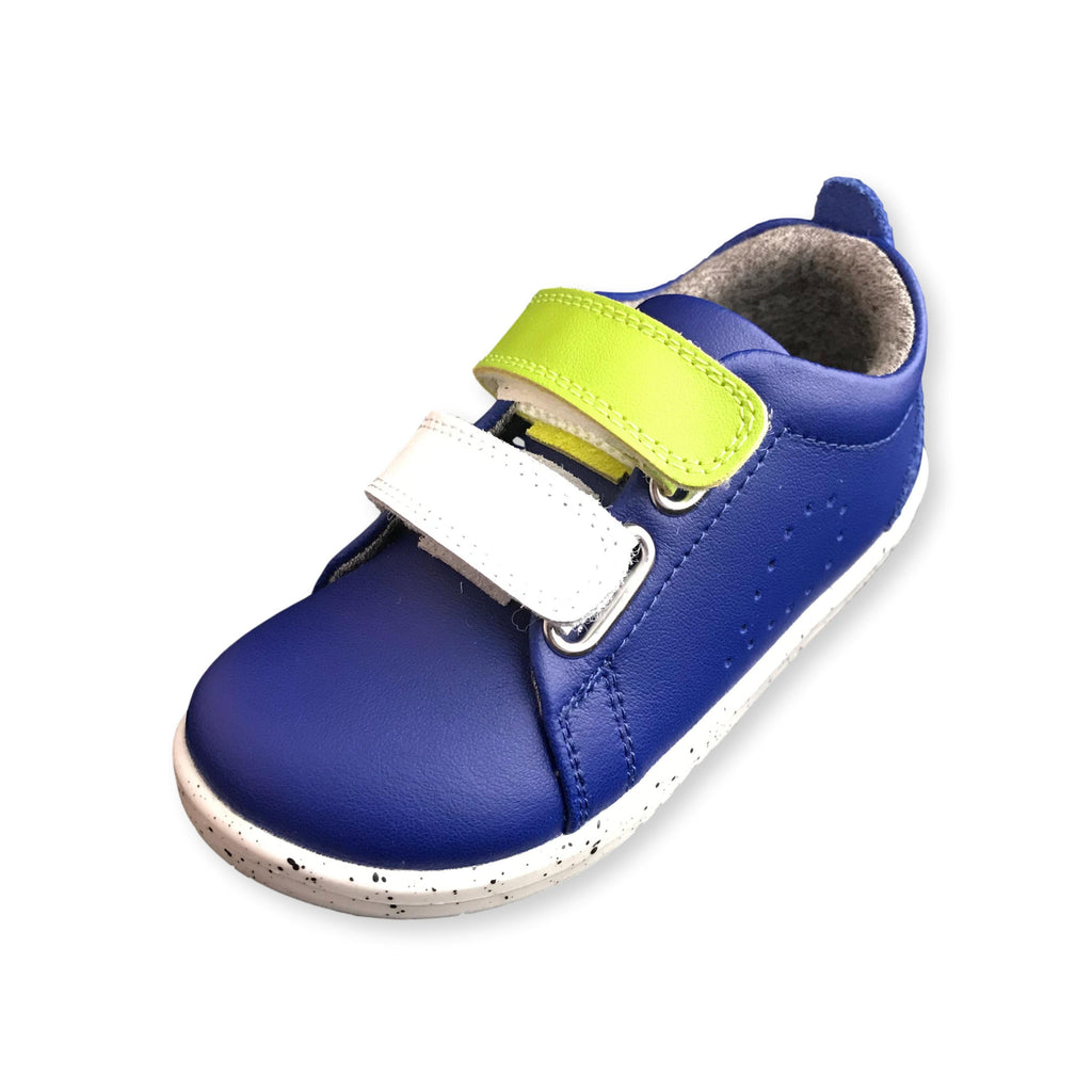 Bobux I Walk Grass Court Switch Blueberry Trainer Shoe. Cooshoo kids shoes.