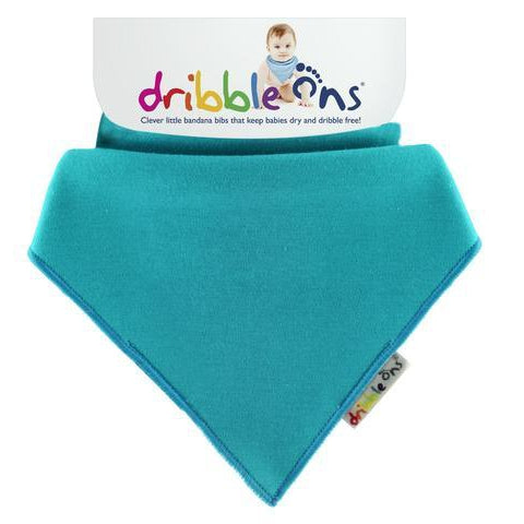 Turquoise Dribble Ons Bib by Sock Ons. Cooshoo fitted children's shoes.