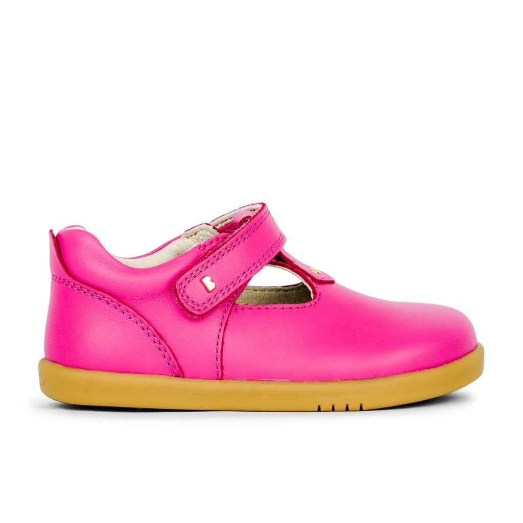 Bobux I-Walk Louise Strawberry T-Bar Shoes