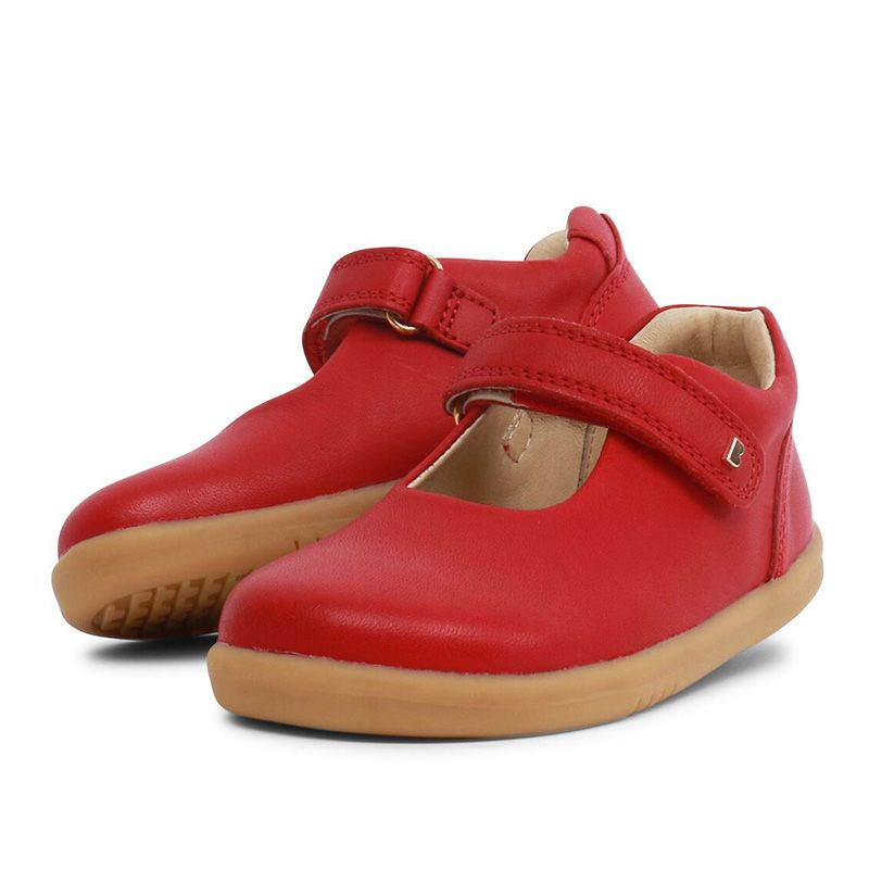 Pair of Bobux I-Walk Delight Rio Red Shoes. Cooshoo childrens shoes.