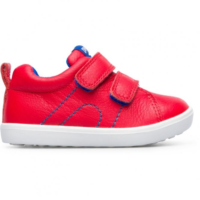 Profile of Camper Pursuit Red Trainer Shoes. Cooshoo kids shoes.