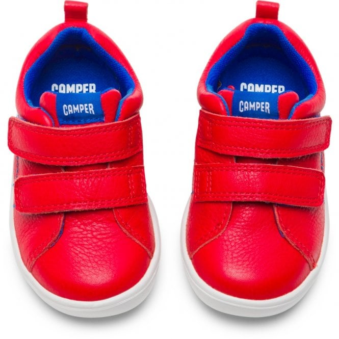 Pair of Camper Pursuit Red Trainer Shoes. Cooshoo kids shoes.