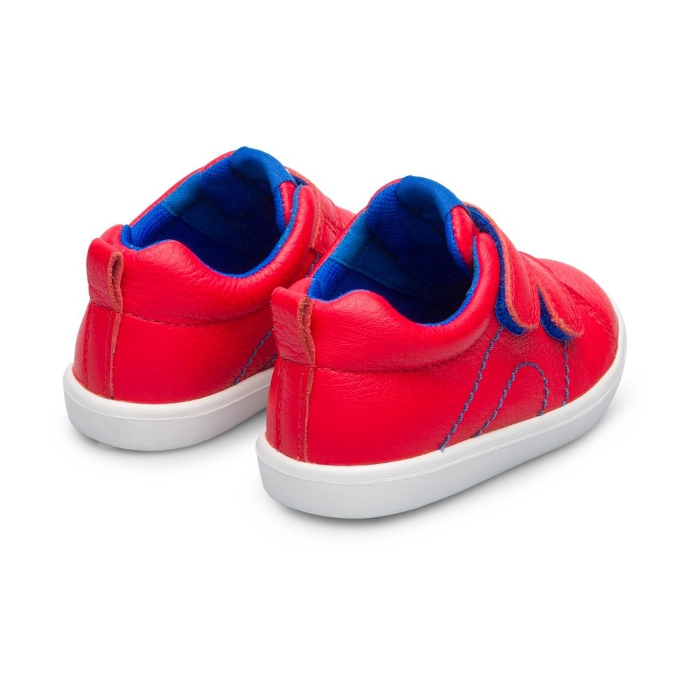 Heels of Camper Pursuit Red Trainer Shoes. Cooshoo kids shoes.