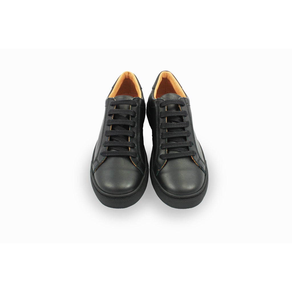 Pair of Froddo Black Lace-up Sneaker Style School Shoe. From Cooshoo fitted childrens school shoes. Double View.