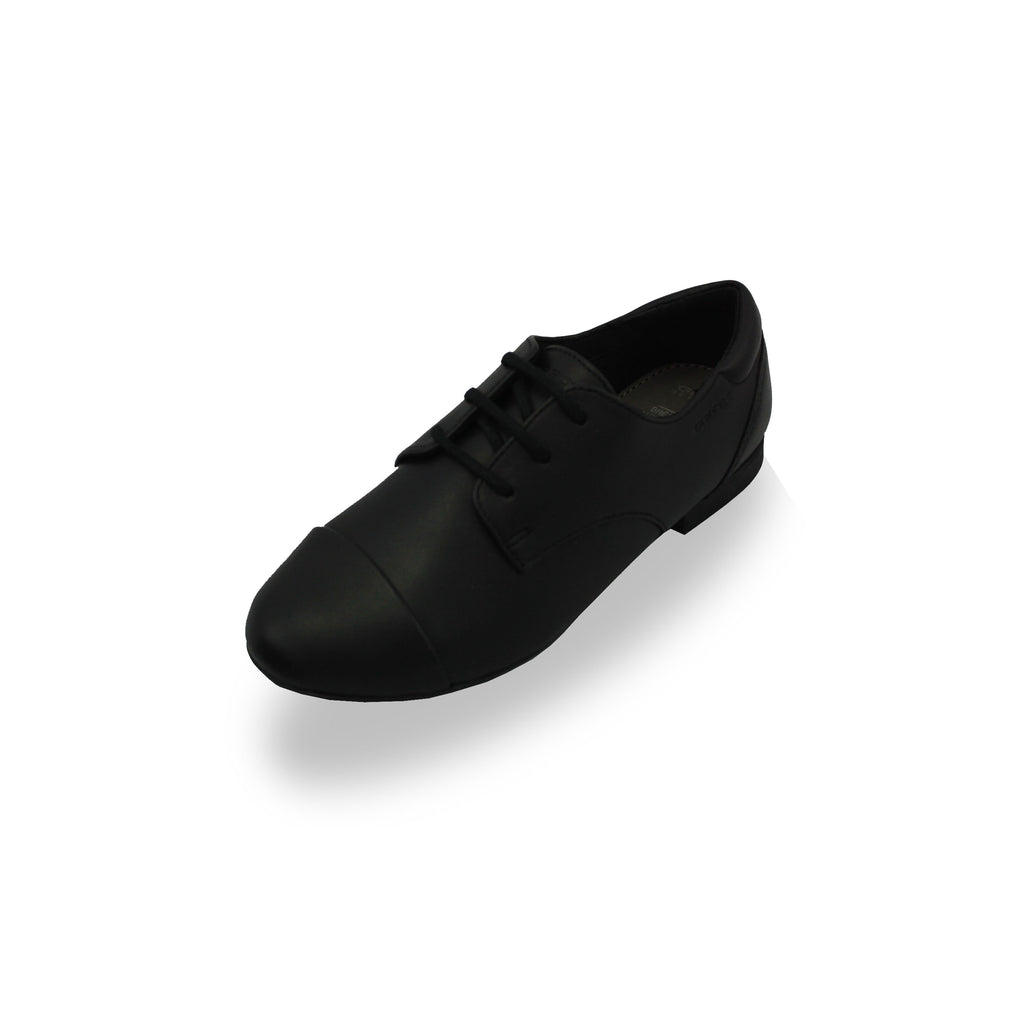 GEOX J Plie Black Lace-up School Shoes-School-GEOX-EU33 (UK1)-Black-Medium-Cooshoo