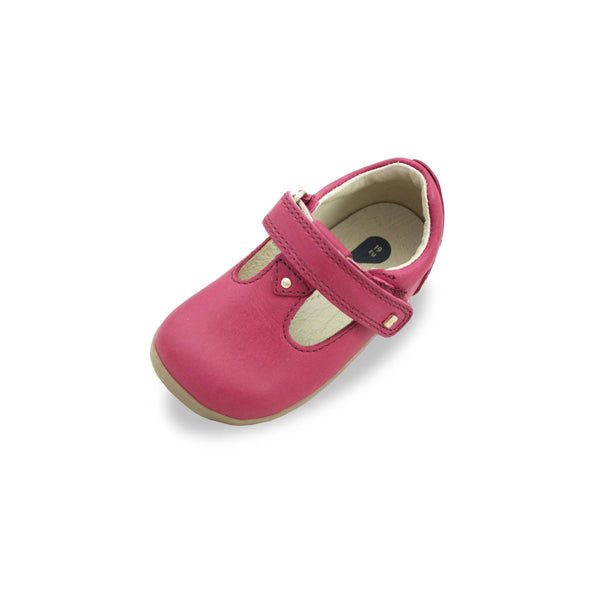 Bobux SU Louise Pink T-bar barefoot shoes. From Cooshoo fitted children's shoes.