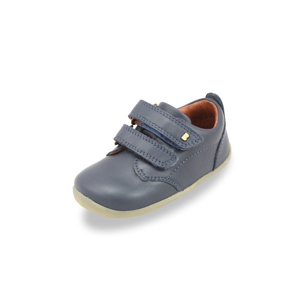 Bobux Step Up navy Port Kids Shoes. From Cooshoo fitted childrens shoes.