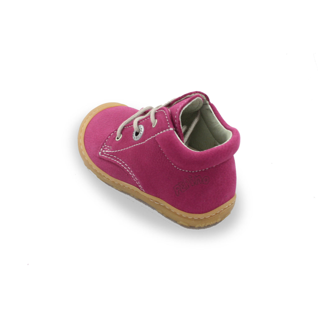 Heel of Ricosta Cory Fuchsia Pink Low-Top Boots. Cooshoo children's shoes.
