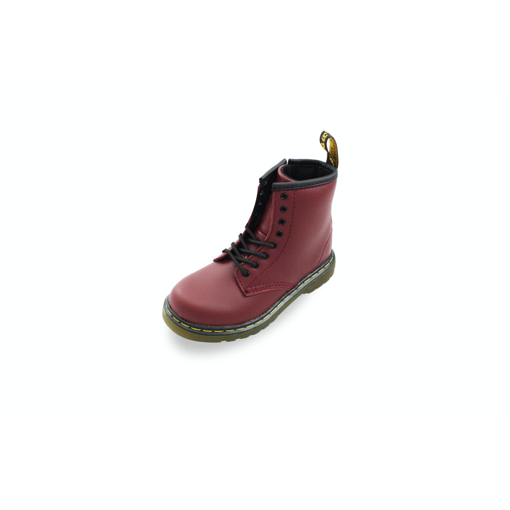 Dr Martens Cherry Red Softy T Boots. From Cooshoo fitted kids shoes.