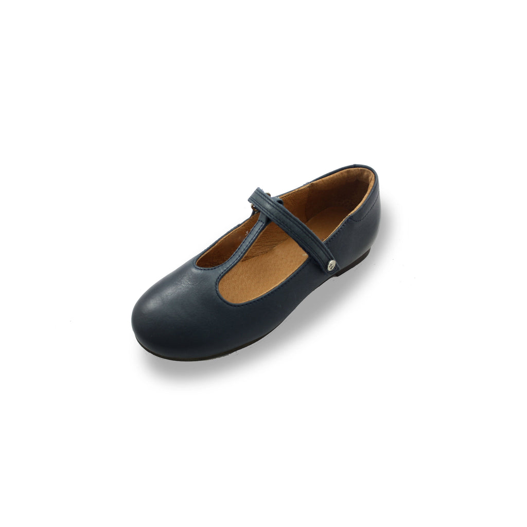 Froddo Classic Navy T-bar Shoes-Juniors-Froddo-Cooshoo